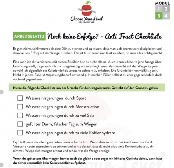 Anti Frust Checkliste